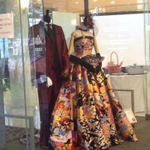 和風のドレス