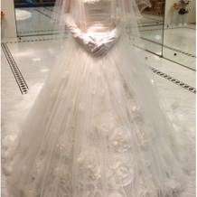 式場パンフでもモデルが着用しているドレス