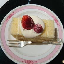 生ケーキは生クリームが自然な甘さで美味