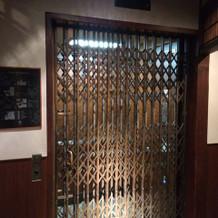 歴史あるエレベーター