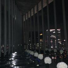 夜のチャペル。夜景がとても綺麗