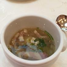 三品目のスープです。