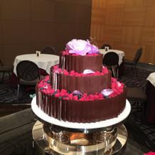 ウエディングケーキの一例。