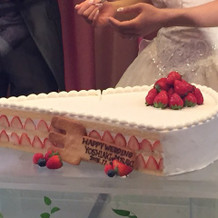 ショートケーキ型のウェディングケーキ