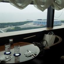 ホテル最上階から見える風景