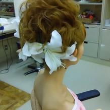 式の当日のヘアメイク