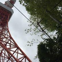 エントランスから見える東京タワー