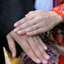 結婚指輪。