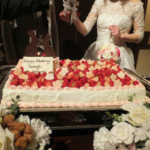 自分のデザインしたケーキ