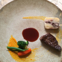 肉料理。和牛フィレ肉。