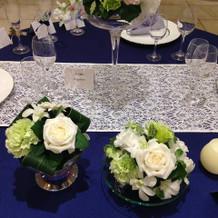 ゲストテーブル装花例