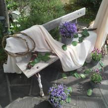 お庭の装飾も素敵でした!