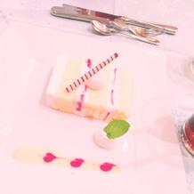 ケーキは好評でした。