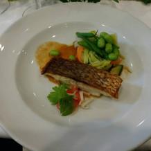 10,000円コース、魚料理。