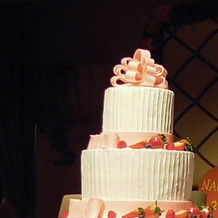 大きなウエディングケーキ