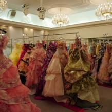 ドレスの展示会がありました!
