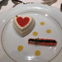 デザートのように可愛らしい前菜