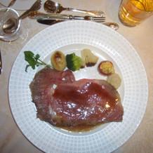 肉料理ローストビーフ(ランクアップ)