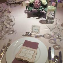 フェア時のテーブルコーデ