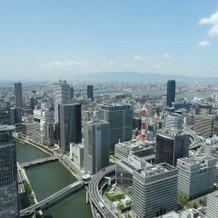 チャペルから見える景色神戸方面