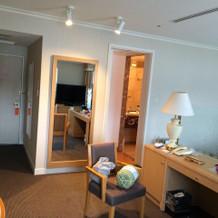 新郎新婦控室と宿泊に使用しました。