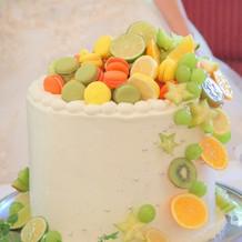 自分でデザインしたケーキ