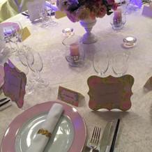 披露宴会場のテーブル装飾