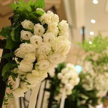 館内の装花