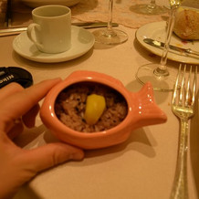 鯛型の器がかわいいお赤飯