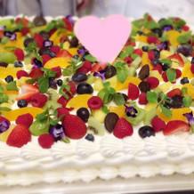 ケーキも可愛い!