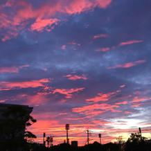 迎賓館から撮った夕日