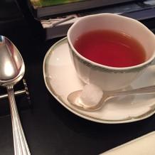 煎れていただいたお紅茶も美味