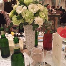 ゲストデーブル装花