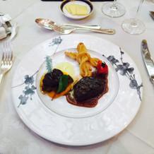 牛フィレ肉とフォアグラ(イチジクつき
