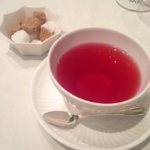 食後の紅茶。