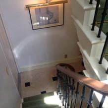 階段部分の空間。