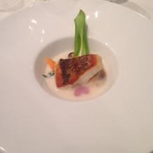 メインの魚料理。