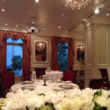 披露宴会場は平日はレストランです。