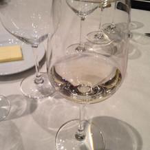 ノンアルコールの白ワイン。