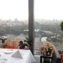 窓から見える景色です。
