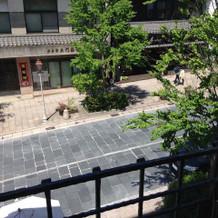 二階からの景色