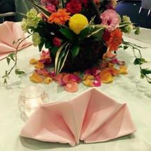 会場のお花などイメージ通りにできました
