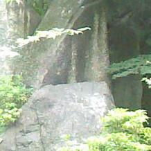 披露宴会場から見える、滝