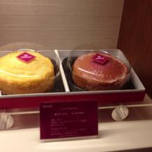 ホテルオリジナルの引き菓子
