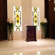 牧師さんが日本人で安心して式を行えた