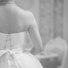 ドレスの試着もゆっくりできました。