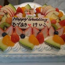 ケーキも美味しかった!