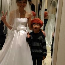 息子はこのドレスが大変気に入っていました
