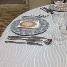 テーブルセットはこんな感じです