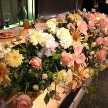 新郎新婦卓の装花